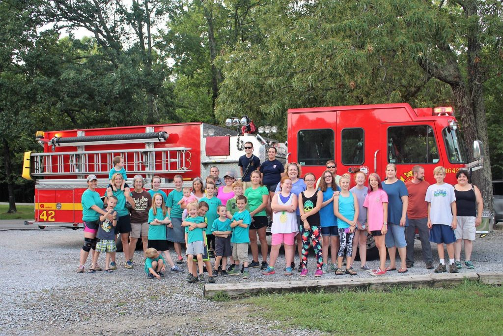 Harrison Bay Run Club with Fire Truck